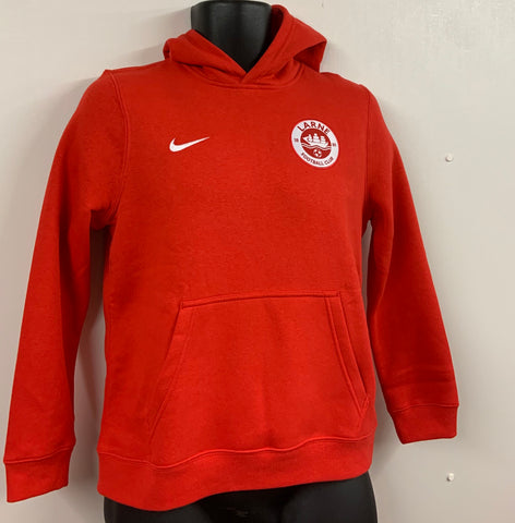 NIKE TEAM CLUB COTTON HOODIE - RED - FINAL REDUCTIONS!