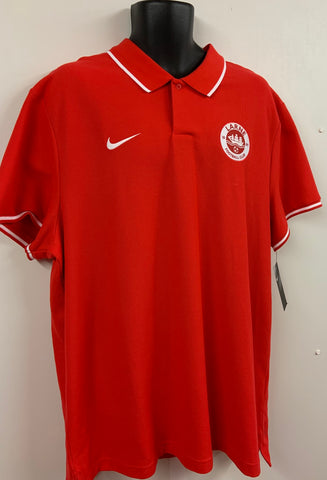 NIKE TEAM CLUB COTTON POLO - RED - FINAL REDUCTIONS!