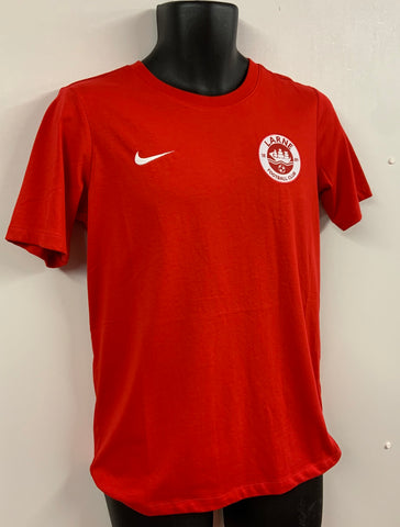 NIKE TEAM CLUB COTTON T-SHIRT - RED - FINAL REDUCTIONS!