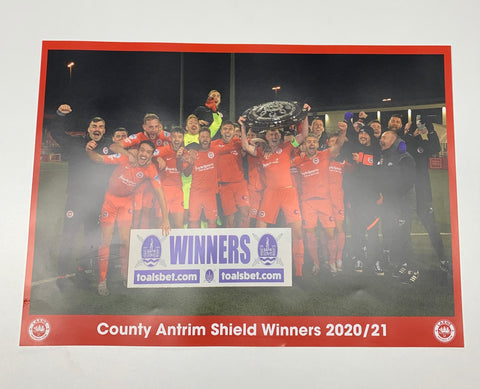 County Antrim Shield Winners Poster