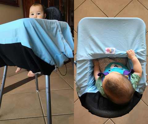 high chair cover multifunctional for sun shade uv protection UPF 50+ pram cover universal fit for strollers portacot insect cover capsules carseats breastfeeding and trolleys