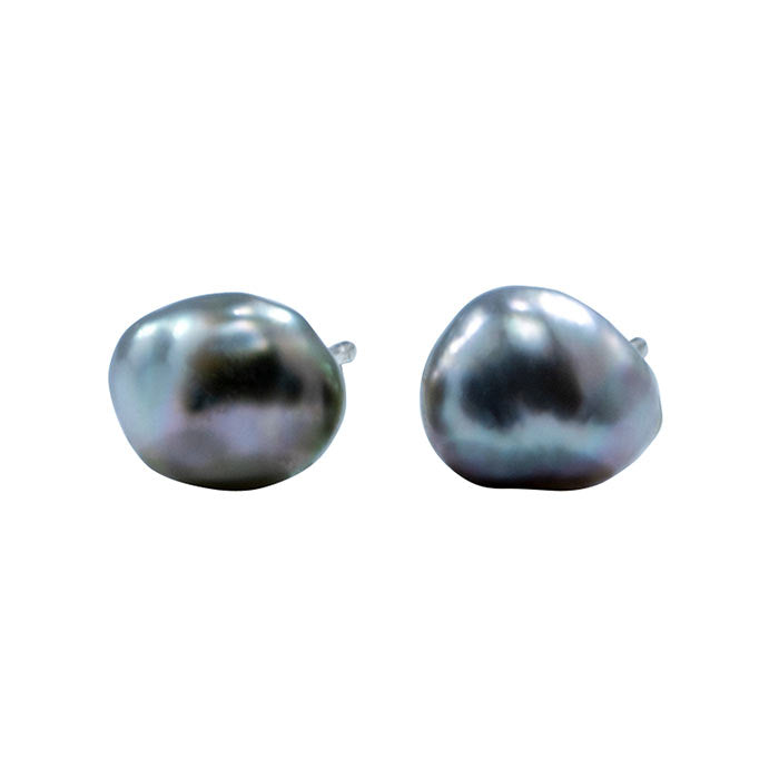 Tahitian South sea pearl studs