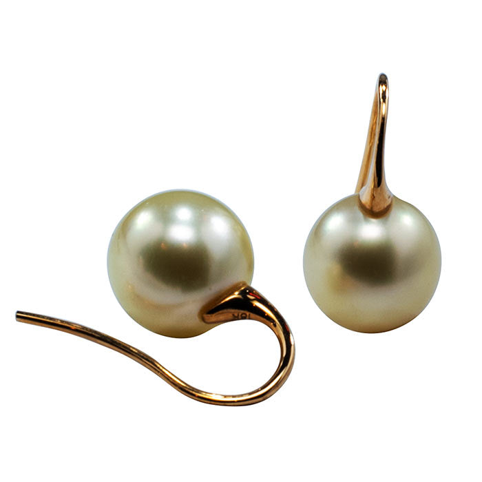 'Franklin' Australian South sea pearl earrings