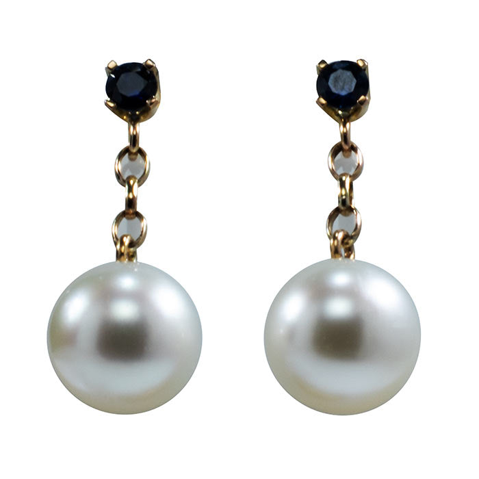 'Shelly5' Australian South sea pearl earrings