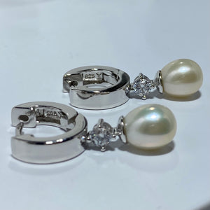 'Alex' Freshwater Pearl Huggie Earrings
