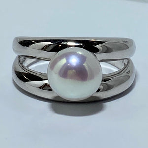 'Coral' Freshwater Pearl Ring