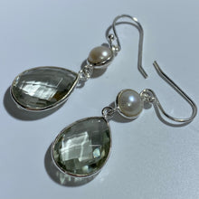 Load image into Gallery viewer, 'Amethyst' Hook Style Freshwater Pearl Earrings