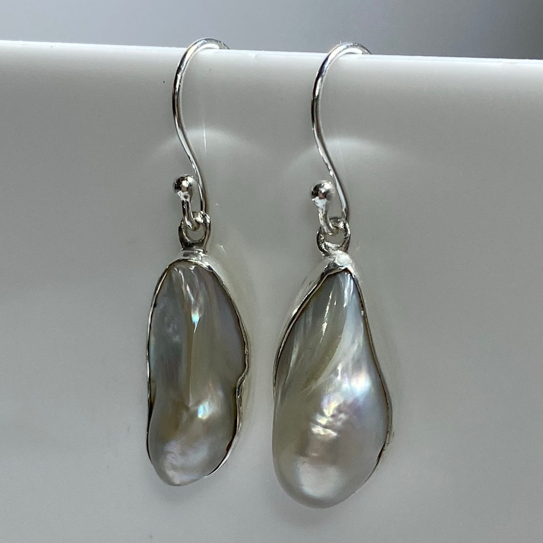 'Kim' Hook Style Freshwater Pearl Earrings