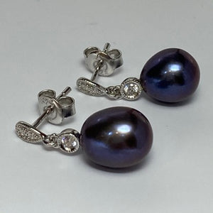 'Madeline' Stud Style Freshwater Pearl Earrings