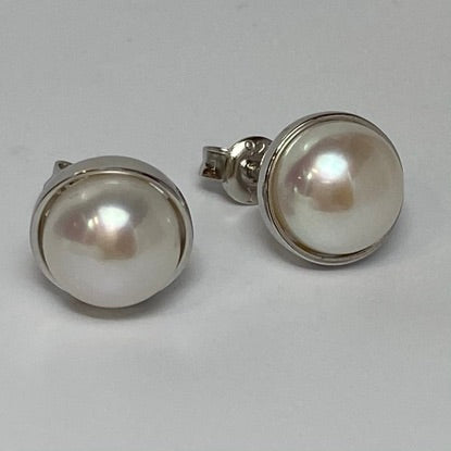 'Jade' Stud Style Freshwater Pearl Earrings