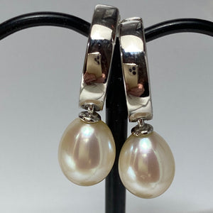 'Ally' Freshwater Pearl Huggie Earrings