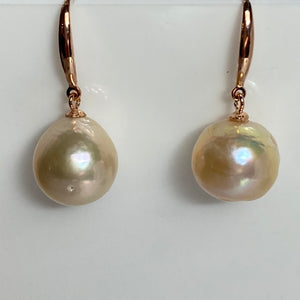 'Elise' Hook Style Freshwater Pearl Earrings