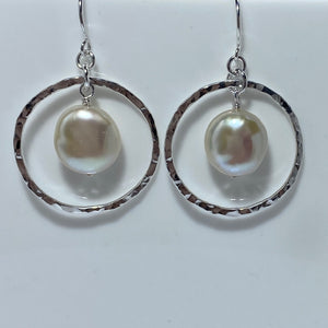 'Pina' Hook Style Freshwater Pearl Earrings
