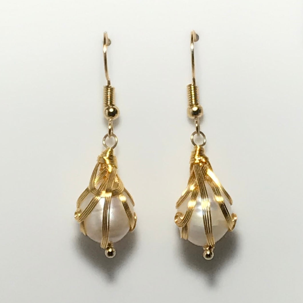 'Aurora' Freshwater Pearl Earrings