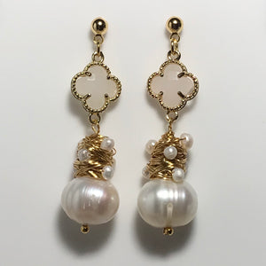 'Aubrey' Freshwater Pearl Earrings