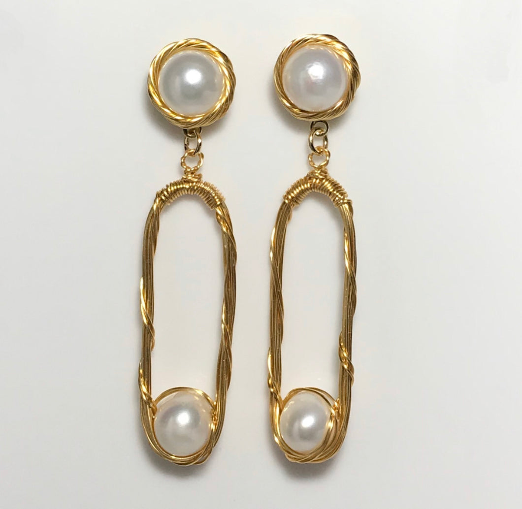 'Savannah' Freshwater Pearl Earrings