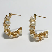 Load image into Gallery viewer, 'Serenity' Freshwater Pearl Earrings