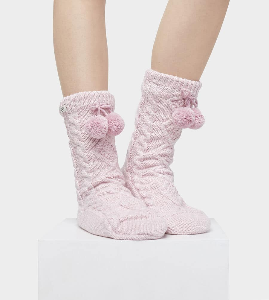 Pom Pom Fleece Lined Sock