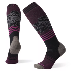 Women's PhD® Snow Medium Traced Dahlia Pattern Socks