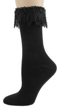 Lace anklet crew socks