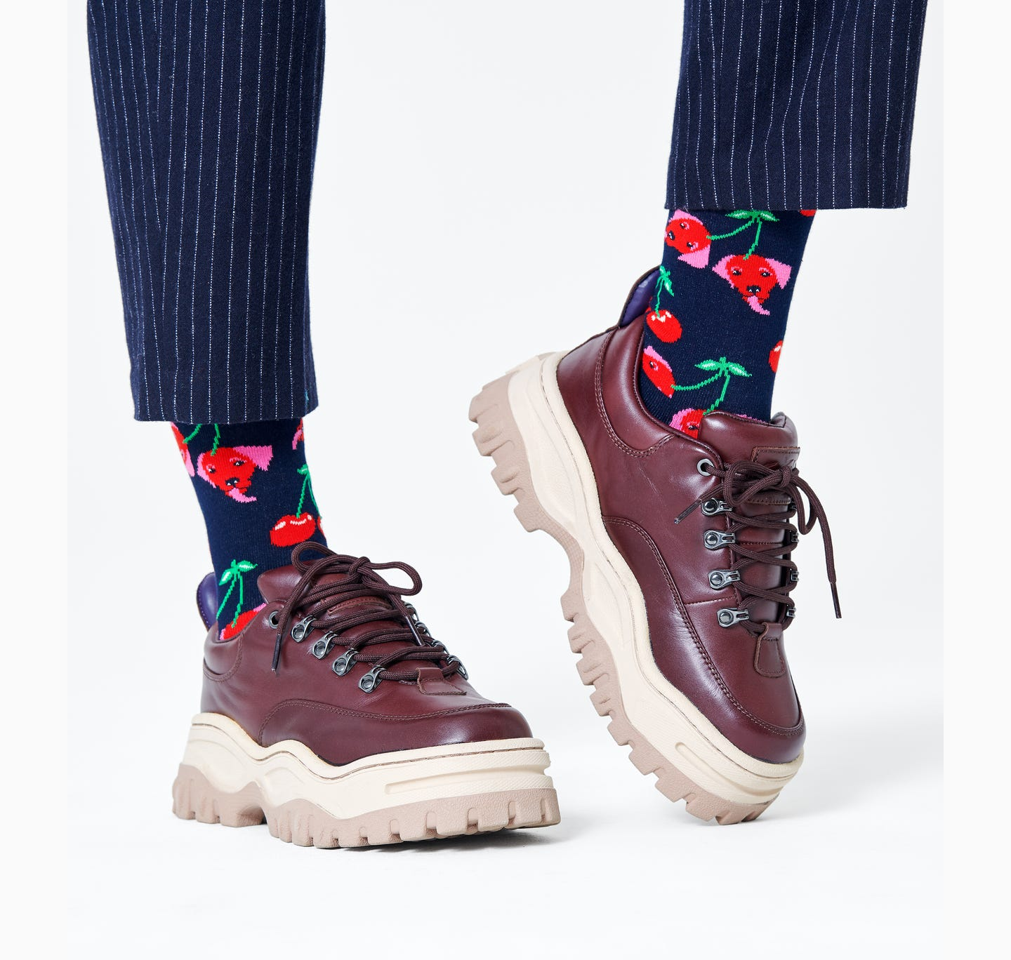 Cherry Dog Sock