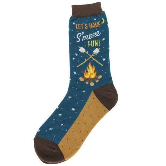 Lets Have S'more Fun crew socks