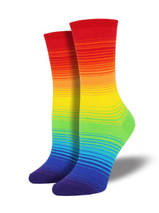 Socksmith's Rainbow, in multi colors, women's size 5 to 10.