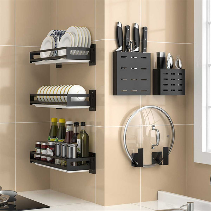 Stainless Steel Kitchen Shelf Wall Hanging
