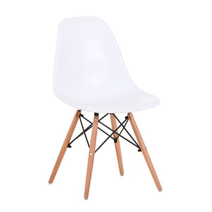 1Pc Dining Chair Modern Minimalist Plastic Back