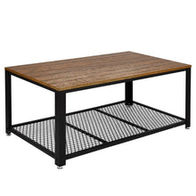 Load image into Gallery viewer, Retro Rectangle Coffee Table Iron Metal Coffee Table