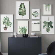 Load image into Gallery viewer, Watercolor Leaves Wall Art Canvas
