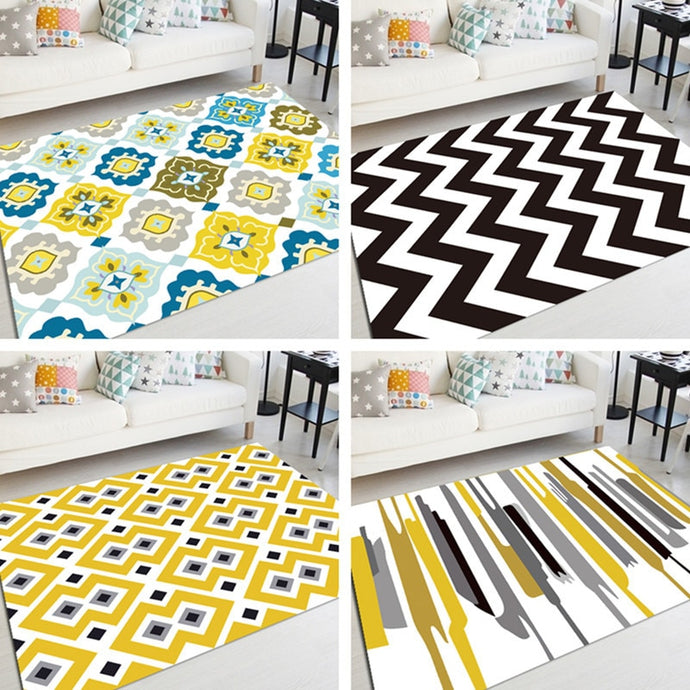 Pattern Rug Living Room Bedroom Floor