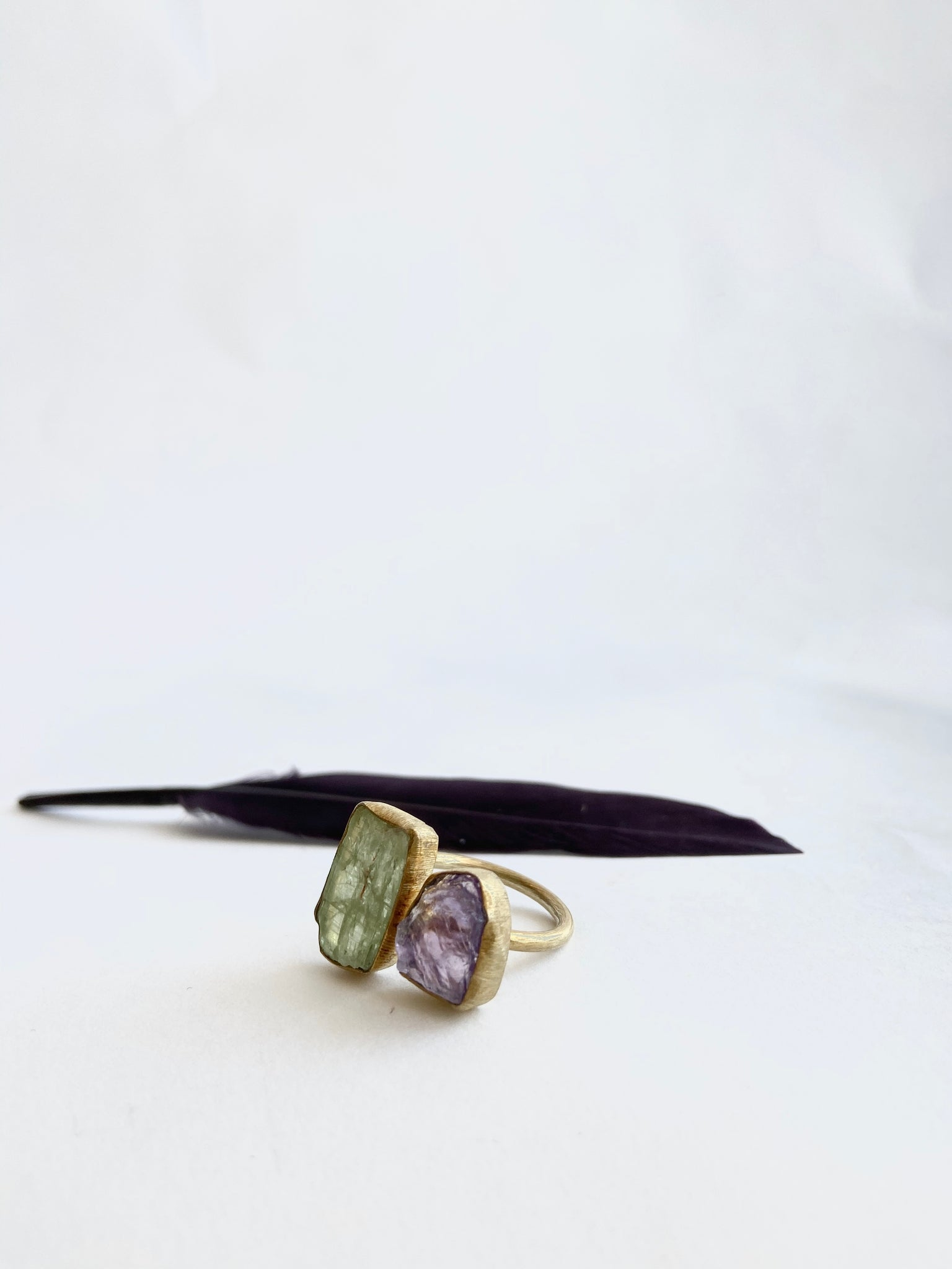Aquamarine and Amethyst Ring - Mag.Pi