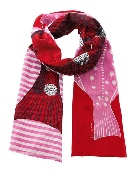 Aquatic Scarf in Pink - Mag.Pi