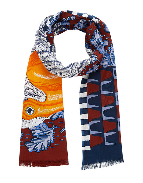 Pelican Scarf in Blue - Mag.Pi