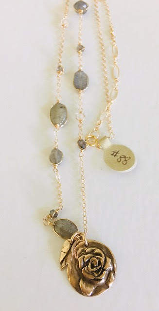 #88 Labradorite Chain Gemstones are wire wrapped onto 14kt gold-fill chain - Mag.Pi