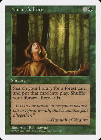 Nature's Lore [Fifth Edition] | Baxter's Game Store