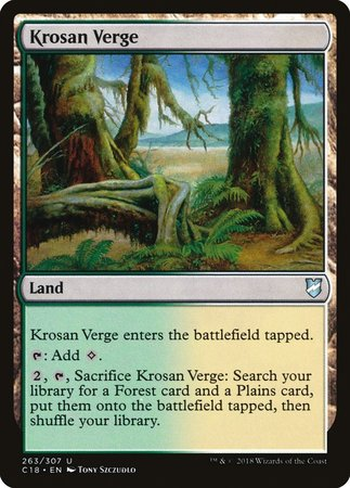 Krosan Verge [Commander 2018] | Baxter's Game Store