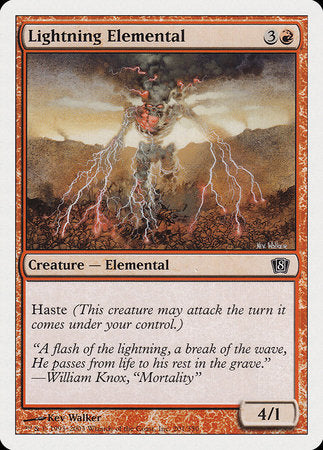 Lightning Elemental [Eighth Edition] | Baxter's Game Store