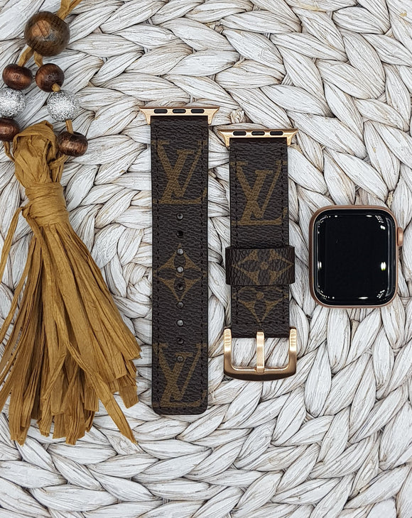 Authentic Repurposed Monogram Apple Watch Band