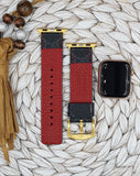 Authentic Repurposed Gucci Black Apple Watch Band