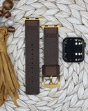 Authentic Repurposed Damier Brown Apple Watch Band