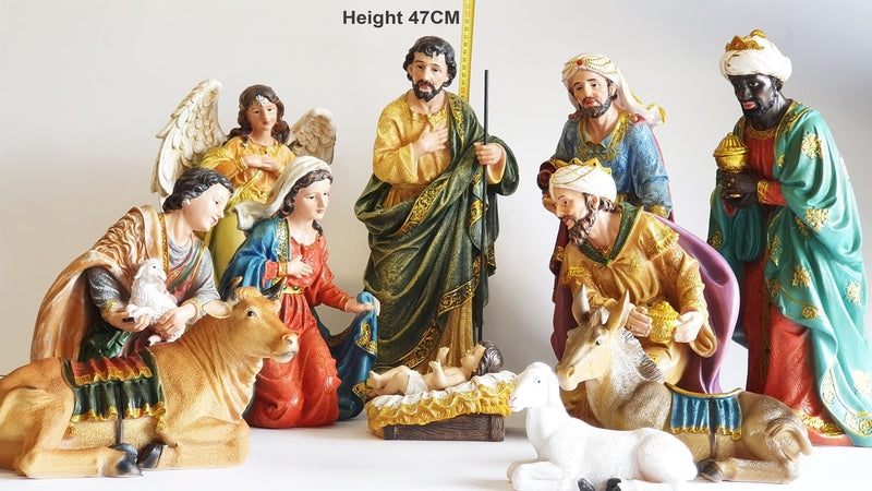 Christmas Nativity set - Extra large 470 mm height