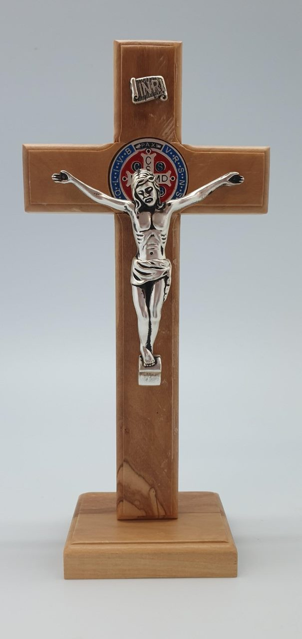 Crucifix Olive-Wood Handcrafted