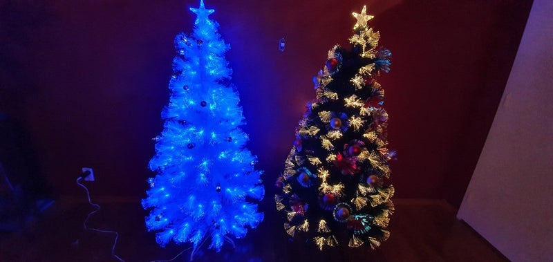 Fibre Optic Christmas tree - White - 120cm