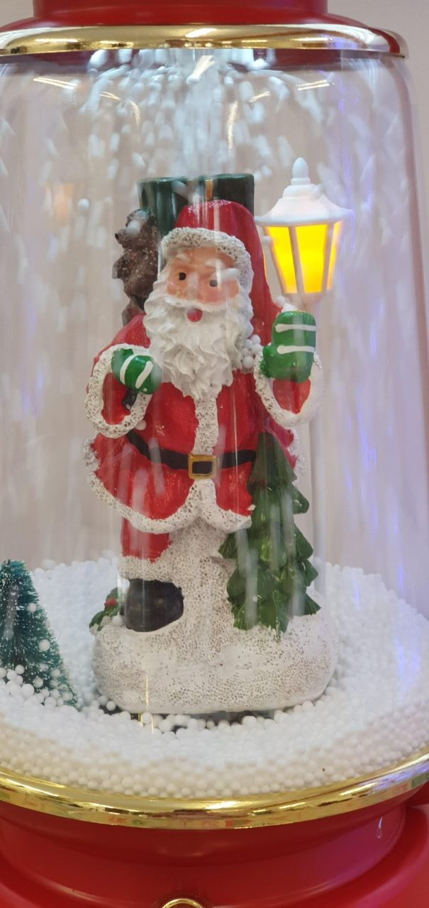 Christmas snowing musical light up lantern