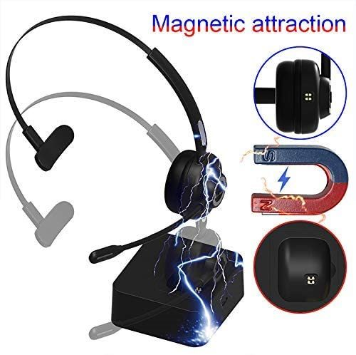Wireless Bluetooth Headset for Cell Phones,Office Headset with Noise Cancelling Microphone
