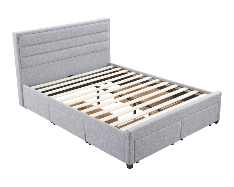 Queen 4 drawer bed