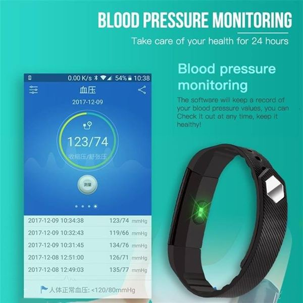 Fitness tracker with heart rate monitoring