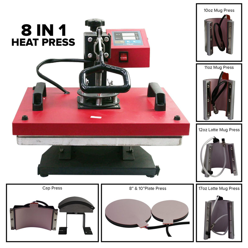 Heat Press - 8 in 1 Digital Heat Press Combo